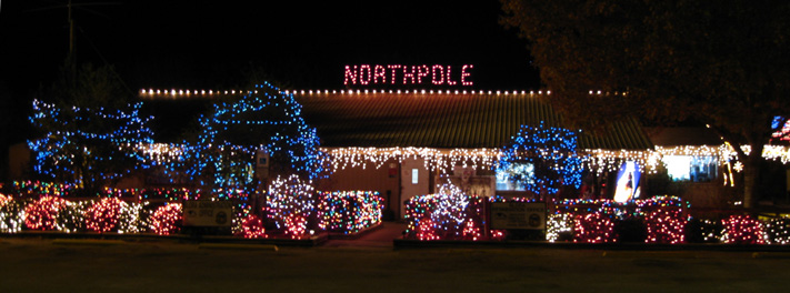 Wonderful After Dark, The BLORA Office Is Disguised As The North Pole.