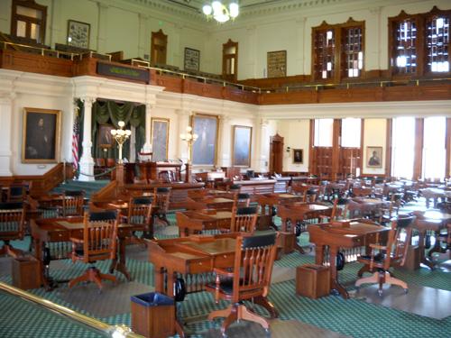 Chairs In Texas Senate Room